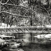 Brainards Bridge After A Snow Storm 3 Print by Thomas Young