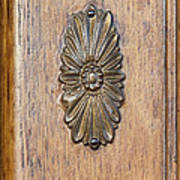 Brass Medallion Print by Michael Flood