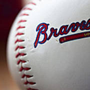 Braves Baseball Print by Ricky Barnard