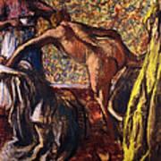 Breakfast After The Bath Le Petit Dejeuner Apres Le Bain Print by Edgar Degas