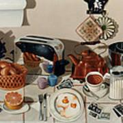 Breakfast With The Beatles - Skewed Perspective Series Print by Larry Preston