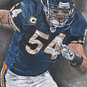 Brian Urlacher Seek And Destroy Print by David Courson