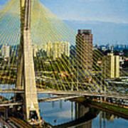 Bridge In Sao Paulo Print by Daniel Precht