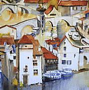 Bridge To Lock Print by Shirley  Peters