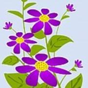 Bright Purple Print by Anastasiya Malakhova