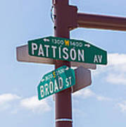 Broad And Pattison Where Philly Sports Happen Print by Photographic Arts And Design Studio