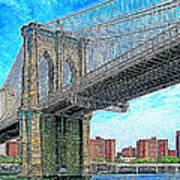 Brooklyn Bridge New York 20130426 Print by Wingsdomain Art and Photography
