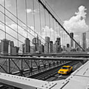 Brooklyn Bridge View Nyc Print by Melanie Viola