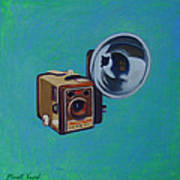 Brownie Box Camera Print by The Vintage Painter
