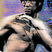 Bruce Lee And Quotes Print by Tony Rubino