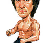 Bruce Lee Print by Art