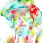 Bruce Springsteen Watercolor Portrait Print by Fabrizio Cassetta