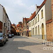 Bruges Side Street Print by Carol Groenen