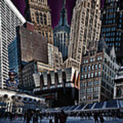 Bryant Park Collage Print by Chris Lord