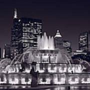 Buckingham Fountain Panorama Print by Steve Gadomski