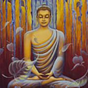 Buddha Meditation Print by Yuliya Glavnaya
