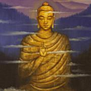 Buddha. Passing Clouds Print by Vrindavan Das