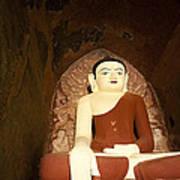Buddha Statue In Dhammayangyi Paya Temple Print by Ruben Vicente