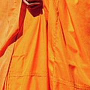 Buddhist Monk 02 Print by Rick Piper Photography