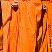 Buddhist Monks 03 Print by Rick Piper Photography