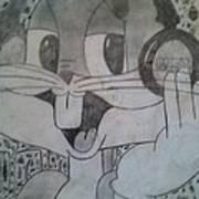 Buggs Bunny Print by Nakya Clark