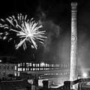 Bull Durham Fireworks Print by Jh Photos