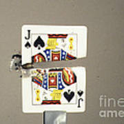 Bullet Piercing Playing Card Print by Gary S. Settles