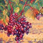 Bunch Of Grapes Print by Carolyn Jarvis