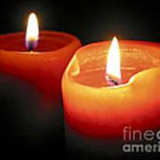 Burning Candles Print by Elena Elisseeva