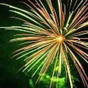 4th Of July Fireworks 6 Print by Howard Tenke