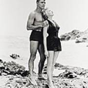 Burt Lancaster In From Here To Eternity  Print by Silver Screen