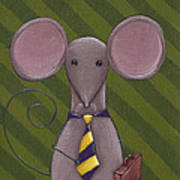 Business Mouse Print by Christy Beckwith