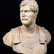 Bust Of Emperor Hadrian Print by Anonymous