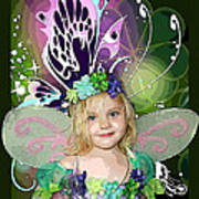 Butterfly Fairy Print by Ellen Henneke
