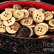 Button Treasures Print by John Rizzuto