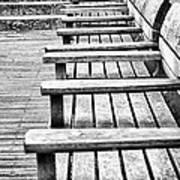 Bw Bench Print by Christos Koudellaris
