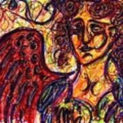 Byzantine Angel Print by Rachel Scott
