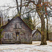 Cabin Dream Print by Debra and Dave Vanderlaan