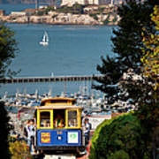 Cable Car In San Francisco Print by Brian Jannsen