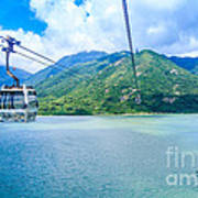 Cable Car Print by Niphon Chanthana