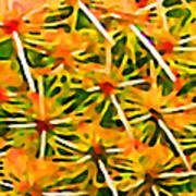 Cactus Pattern 2 Yellow Print by Amy Vangsgard