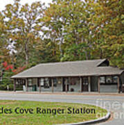 Cades Cove Ranger Station Print by Marian Bell
