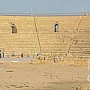 Caesarea Israel Ancient Colosseum Print by Robert Birkenes