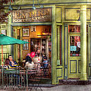 Cafe - Hoboken Nj - Empire Coffee And Tea Print by Mike Savad