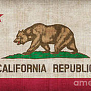 California State Flag Print by Pixel Chimp