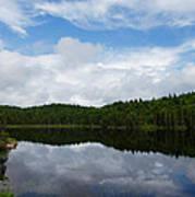 Calm Lake - Turbulent Sky Print by Georgia Mizuleva