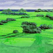 Campo Da Golf Print by Guido Borelli