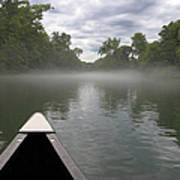 Canoeing The Ozarks Print by Adam Romanowicz