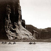 Canonde Chelly Az 1904 Print by Edward S Curtis