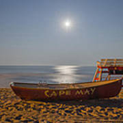 Cape May By Moonlight Print by Bill Cannon